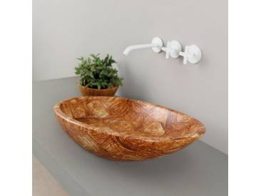 Design Aufsatzwaschbecken, Keramik, Schildkröte, made in Italy Glossy