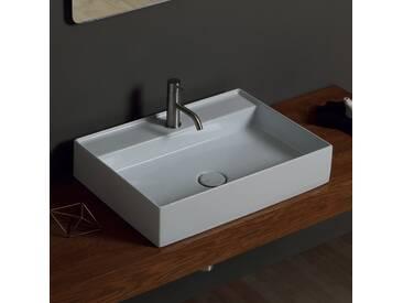 Aufsatzwaschbecken aus Keramik Design Sun 60x45cm made in Italy