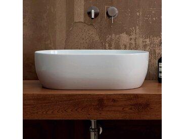 Aufsatzwaschbecken aus weißer/bunter Keramik Star 55x35 made in Italy