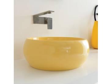 Keramik Aufsatzwaschbecken gelb Joker Cheese von Alice Ceramica