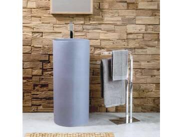 Cipì Standwaschbecken moderner Design aus Harz, Cilindro, Grau