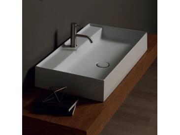 Aufsatzwaschbecken aus Keramik, Design Sun 80x45cm, made in Italy