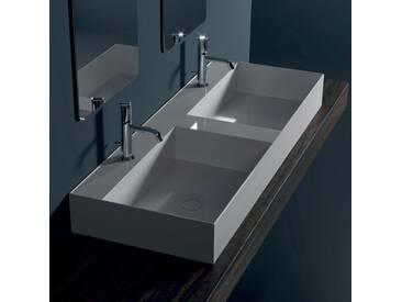 Aufsatzwaschbecken aus Keramik Design 120x45 cm, made in Italy