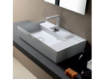 Aufsatzwaschbecken aus Keramik modernes Design made in Italy 65x40cm