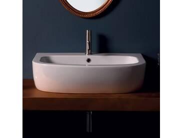 Aufsatzwaschbecken  aus Keramik modernes Design Shine 70x50 Italy