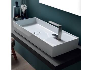 Aufsatzwaschbecken aus weißer/bunter Keramik Sun 85x37 modernes Design