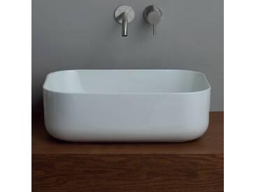 Modernes Aufsatzwaschbecken aus weißer/bunter Keramik Star 50x37cm