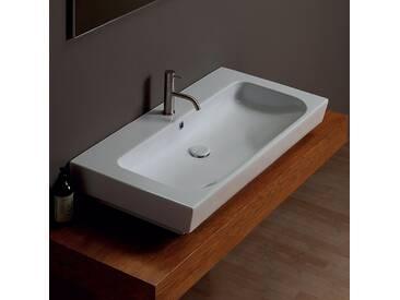 Waschbecken aus Keramik modernes Design 100x50 Shine made in Italy