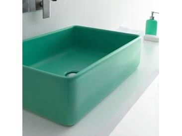 Rechteckiges Aufsatzwaschbecke grün Joker von Alice Ceramica