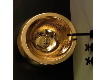 Rundes Aufsatzwaschbecken aus Keramik-gold Design made in Italy Elisa