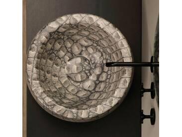 Rundes Aufsatzwaschbecken, Keramik, Kaiman, Design made in Italy Elisa