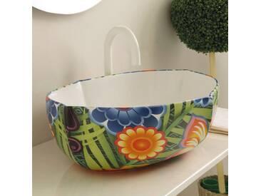 Aufsatzwaschbecken aus gezeichneter Keramik made in Italy Oscar Design