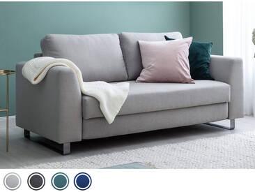 Schlafsofa 3-Sitzer in Hellgrau inkl. Holz- und Metallfüßen   BRUNO - Hochwertige Materialien, beste Verarbeitung und ein zeitloses, klares Design