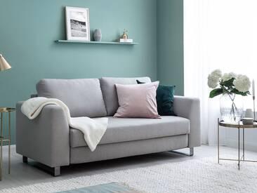 Schlafsofa 2-Sitzer in hellgrau inkl. Holz- und Metallfüßen | BRUNO - Hochwertige Materialien, beste Verarbeitung und ein zeitloses, klares Design