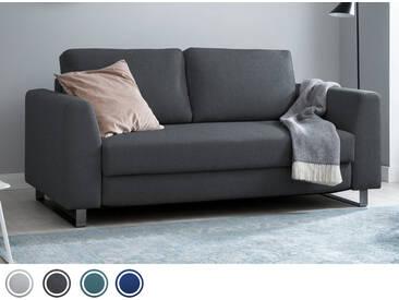 Schlafsofa 3-Sitzer in Grau inkl. Holz- und Metallfüßen   BRUNO - Hochwertige Materialien, beste Verarbeitung und ein zeitloses, klares Design