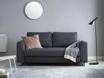 Schlafsofa 2-Sitzer in grau inkl. Holz- und Metallfüßen | BRUNO - Hochwertige Materialien, beste Verarbeitung und ein zeitloses, klares Design
