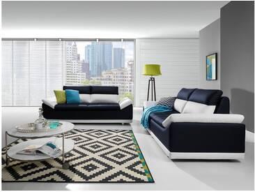 JUSTyou Manilla Polstergarnitur Sofa Couchgarnitur Weiß Blau