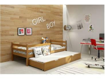 JUSTyou Nemo Funktionsbett Jugendbett Kinderbett Einzelbett  Erle 80x185 cm