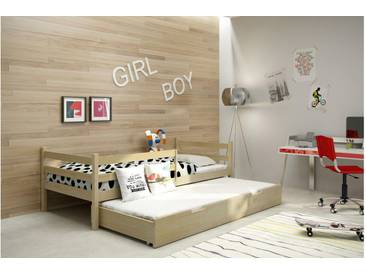 JUSTyou Nemo Funktionsbett Jugendbett Kinderbett Einzelbett  Kiefer 80x185 cm