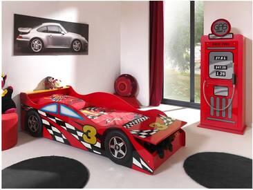 JUSTyou Porto-Novo Rennwagenbett Rot HxBxL 48x78x175 cm