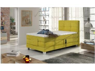 JUSTyou Tasso Boxspringbett Continentalbett Amerikanisches Bett Doppelbett Ehebett Gästebett Gelb 100x200