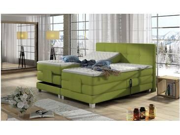 JUSTyou Tasso Boxspringbett Continentalbett Amerikanisches Bett Doppelbett Ehebett Gästebett Grün 180x200