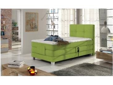 JUSTyou Tasso Boxspringbett Continentalbett Amerikanisches Bett Doppelbett Ehebett Gästebett Limette 100x200