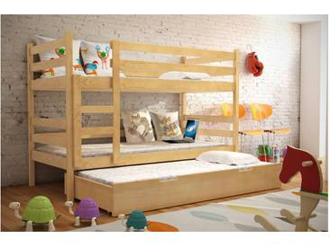 JUSTyou Nemo Etagenbett Kinderbett Kiefer 80x185 cm