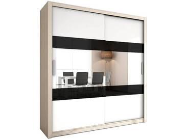 JUSTyou Aldo Schwebetürenschrank Kleiderschrank Garderobe Garderobensetnschrank Schlafzimmer Esche Weiß