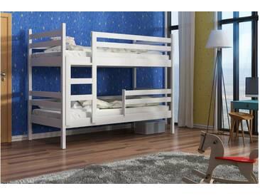 JUSTyou Nemo Slim Etagenbett Kinderbett Weiß 80x185 cm
