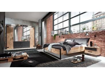 JUSTyou Sydney Schlafzimmerset Schlafzimmerkombination Schlafzimmer Komplett Plankeneiche