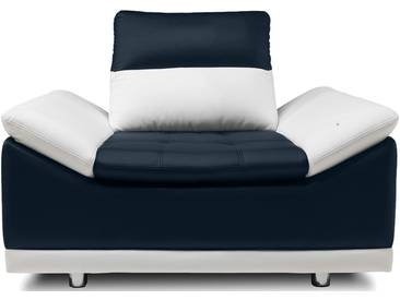 JUSTyou Manilla Sessel  Kunstleder Weiß Blau