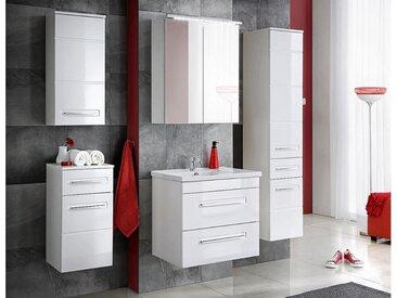 JUSTyou Alanya Badezimmerset Bademöbel Komplett Bademöbelset Weiß | Hochglanz