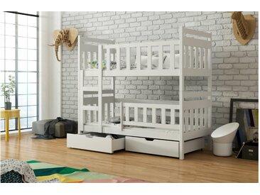 JUSTyou Tom Etagenbett Kinderbett Weiß 80x160 cm