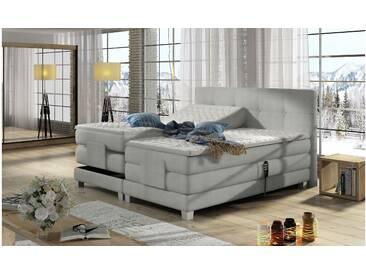 JUSTyou Tasso Boxspringbett Continentalbett Amerikanisches Bett Doppelbett Ehebett Gästebett Weiß 160x200