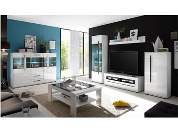 JUSTyou Artana Wohnzimmerset Wohnzimmer Komplett Weiß