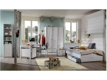 JUSTyou Raoul Kinderzimmer-Set Kinderzimmermöbel Komplett Eiche Bianco