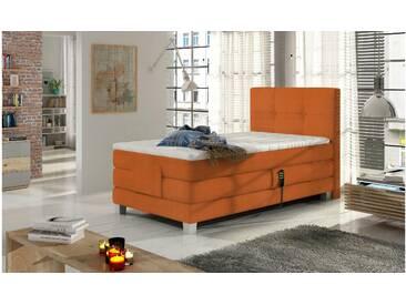 JUSTyou Tasso Boxspringbett Continentalbett Amerikanisches Bett Doppelbett Ehebett Gästebett Orange 100x200