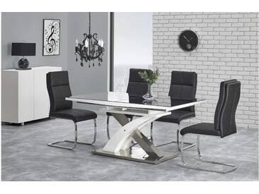 JUSTyou Sandor II Esszimmertisch Küchentisch Esstisch Schwarz Weiß