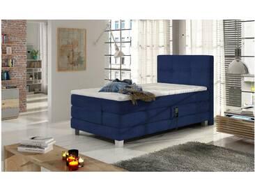 JUSTyou Tasso Boxspringbett Continentalbett Amerikanisches Bett Doppelbett Ehebett Gästebett Dunkelblau 100x200
