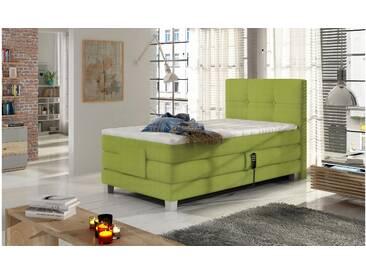 JUSTyou Tasso Boxspringbett Continentalbett Amerikanisches Bett Doppelbett Ehebett Gästebett Grün 100x200