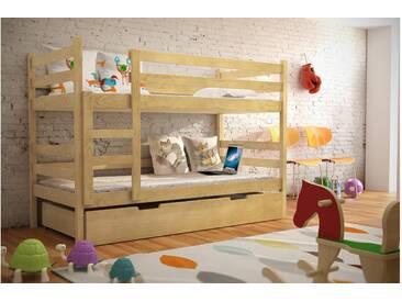 JUSTyou Nemo Etagenbett Kinderbett Kiefer 80x160 cm