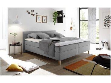 JUSTyou Indiana Boxspringbett Continentalbett Amerikanisches Bett Doppelbett Ehebett Gästebett Grau
