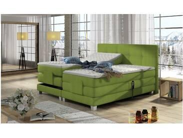 JUSTyou Tasso Boxspringbett Continentalbett Amerikanisches Bett Doppelbett Ehebett Gästebett Limette 160x200