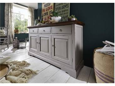 JUSTyou Anabel Kommode Sideboard Anrichte Taupe
