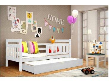 JUSTyou Tom Funktionsbett Jugendbett Kinderbett Einzelbett  Weiß 80x185 cm