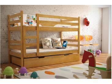 JUSTyou Nemo Etagenbett Kinderbett Erle 80x185 cm