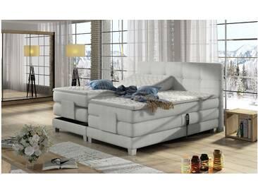 JUSTyou Tasso Boxspringbett Continentalbett Amerikanisches Bett Doppelbett Ehebett Gästebett Weiß 140x200