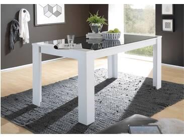 JUSTyou Artana Esszimmertisch Küchentisch Esstisch Weiß Matt | Grau