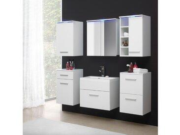 JUSTyou Megi Badezimmerset Bademöbel Komplett Bademöbelset 6-teilig Weiß